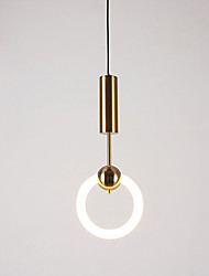 cheap -1-Light 20 cm Pendant Light Metal Circle Contemporary / Artistic 220-240V