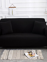 cheap -Sofa Cover High Stretch Black Combinatorial Soft Elastic Polyester Slipcovers