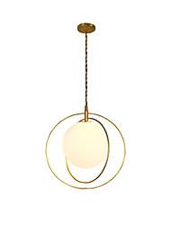 cheap -Pendant Light Ambient Light Painted Finishes Metal Glass New Design 110-120V / 220-240V
