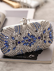 cheap -Women's Buttons / Crystals Acrylic / Alloy Evening Bag Rhinestone Crystal Evening Bags Silver / Fall & Winter