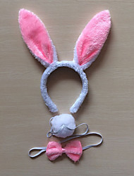 cheap -Rabbit Mascot Easter Bunny Ears Headband Kid's Adults' Women's Cartoon Easter Festival / Holiday Fabric Green / Blue / Pink Carnival Costumes Patchwork