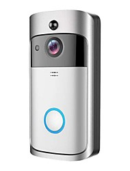 cheap -HQCAM Smart Wireless Video Doorbell Wifi doorbell Camera Intercom Door Bell Video doorbel Call+Power adapter WIFI No Screen(output by APP) Hands-free One to One video doorphone