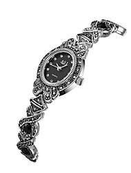 Недорогие -ASJ Жен. Наручные часы Японский Японский кварц Черный Повседневные часы Аналоговый Винтаж На каждый день - Черный Один год Срок службы батареи / SSUO SR626SW + CR2025