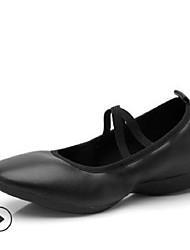 cheap -Women's Dance Shoes Canvas Jazz Shoes Flat Flat Heel Beige / Fuchsia / Red / Practice
