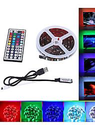 cheap -2x50cm 2x100cm USB LED Strip Lights RGB Tiktok Lights 5050 SMD 10mm Fairy Strip Light TV Back Lighting Kit 44key Remote Control 5V