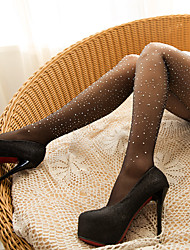 cheap -Nylon Patterned Tights Wedding Garter With Crystals / Rhinestones Net Stockings Wedding / Party / Evening