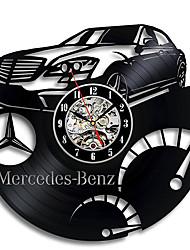 cheap -Mercedes Benz vinyl LED record wall clock