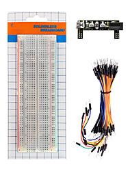 abordables -ks0312 keyestudio carte d'alimentation module d'alimentation30 trous sans soudure breadboard65 paquet de fils de connexion