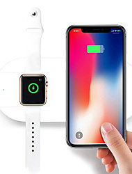 cheap -10W 2in1 Qi Wireless Car Charger Pad Charging Station For Apple Watch iPhone X 8/8Plus Samsung S9 S8