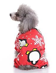 cheap -Dogs Costume Christmas Winter Dog Clothes Green Red Dark Blue Costume Corgi Beagle Bulldog Polyester / Cotton Blend Classic Christmas Cosplay Christmas S M L XL