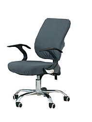 cheap -Office computer chair covers swivel rotate back seats solid color slipcover