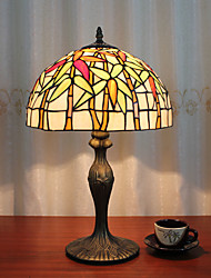 cheap -12 Inch Desk Light Artistic/Rose Flower Tiffany Ambient Lamps Decorative Lovely Table Lamp For Indoor Bedroom Resin 110-120V 220-240V 40W*1 Bulb Not Included