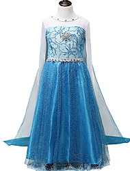 cheap -Sheath / Column Floor Length / Long Length Party / Birthday Chiffon / Tulle Long Sleeve Jewel Neck with Crystals / Splicing / Crystals / Rhinestones
