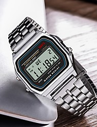 cheap -Men's Sport Watch Digital Silver Casual Watch Digital Casual - Silver / Stainless Steel