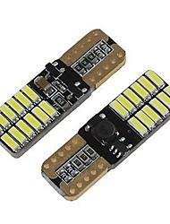 Недорогие -SENCART 2pcs T10 / BA9S / BAX9s Мотоцикл / Автомобиль Лампы 3 W SMD 3014 160 lm 24 Светодиодная лампа Подсветка для номерного знака / Лампа поворотного сигнала / Внутреннее освещение Назначение