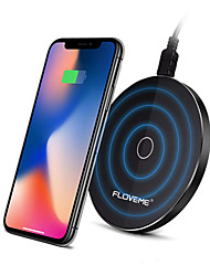 cheap -FLOVEME 10W Super Slim Qi Wireless Car Charger With LED Light For iPhone X 8Plus Samsung S8 Note 8