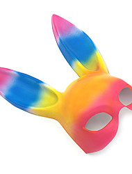cheap -Mask Halloween Mask Eye Mask Inspired by Rabbit Mascot Easter Bunny Rainbow Cartoon Halloween Easter Adults' Women's