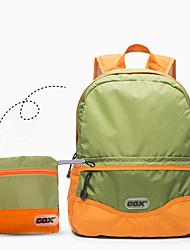 cheap -GOX 20 L Lightweight Packable Backpack Lightweight YKK Zipper Compact Wear Resistance Outdoor Travel Running Fitness Nylon Green Gray+Green Black / Orange