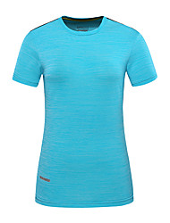 cheap -DZRZVD® Women's Hiking Tee shirt Short Sleeve Outdoor Breathable Quick Dry Fast Dry Sweat-Wicking Tee / T-shirt Top Spring Summer POLY Chinlon Crew Neck Running Camping / Hiking Exercise & Fitness