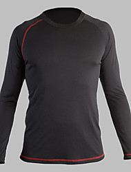 cheap -Men's Cycling Base Layer Long Sleeve Compression Base Layer T Shirt Top Lightweight Breathable Quick Dry Soft Sweat-wicking Black Polyester Winter Road Bike Fitness Mountain Bike MTB High Elasticity