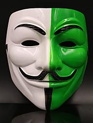Недорогие -Маски Маска Хэллоуина Вдохновлен V — значит вендетта Фильм ужасов Зеленый Хэллоуин Хэллоуин Маскарад Взрослые Муж.