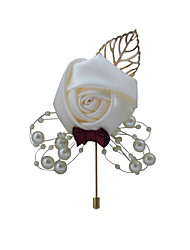 cheap -Wedding Flowers Boutonnieres / Gifts Wedding / Ceremony Silk / Beads 11-20 cm