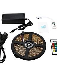 cheap -5m LED Light Strips RGB Tiktok Lights Smart Lights 300 LEDs SMD5050 1 24Keys Remote Controller 1 X 12V 5A Power Supply 1 set Waterproof APP Control Cuttable 120-240 V