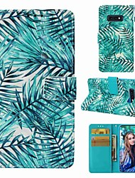cheap -Case For Samsung Galaxy S9 / S9 Plus / S8 Plus Wallet / Card Holder / Flip Full Body Cases Plants Hard PU Leather
