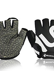 cheap -BOODUN Bike Gloves / Cycling Gloves Mountain Bike MTB Breathable Anti-Slip Sweat-wicking Protective Fingerless Gloves Half Finger Sports Gloves Lycra Black for Adults' Fitness Gym Workout