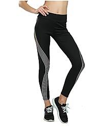 cheap -Women's High Rise Yoga Pants Fashion Running Fitness Tights Activewear Tummy Control Micro-elastic Slim