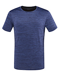 cheap -DZRZVD® Men's Hiking Tee shirt Short Sleeve Outdoor Breathable Quick Dry Fast Dry Sweat-Wicking Tee / T-shirt Top Spring Summer POLY Crew Neck Running Camping / Hiking Exercise & Fitness Dark Grey