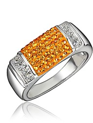 cheap -Women's Ring Cubic Zirconia 1pc Gold Silver 18K Gold Plated Imitation Diamond Stylish Luxury Romantic Party Engagement Jewelry Classic Heart Lovely