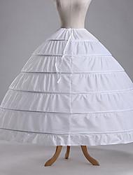 Недорогие -Нижняя юбка пачка Под юбкой 1950-е года Хлопок Зеленый Синий Цвет фуксии Нижняя юбка / Кринолин