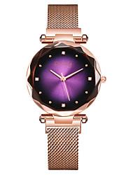 cheap -Women's Dress Watch Wrist Watch Gold Watch Quartz Stainless Steel Black / Rose Gold Creative Marble Analog Luxury Elegant - Fuchsia Blue Dark Green One Year Battery Life