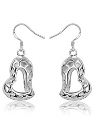 cheap -Women's Drop Earrings Hollow Out Heart Trendy Fashion Cute Elegant bridesmaid Silver Plated Earrings Jewelry Silver For Birthday Engagement Gift Daily Date 1 Pair