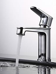 cheap -Bathroom Sink Faucet - Widespread Chrome / Oil-rubbed Bronze / Black Centerset Single Handle One HoleBath Taps