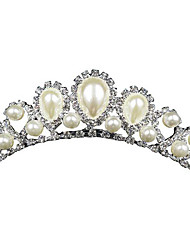 cheap -Women's Party Imitation Pearl Silver Plated Alloy Solid Colored