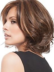 cheap -Synthetic Wig Loose Curl Pixie Cut Wig Short Dark Brown / Dark Auburn Synthetic Hair 8 inch Women's Women Dark Brown