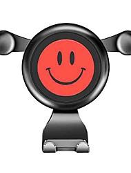 abordables -360 degrés de rotation créatif smiley face gravité voiture mont air vent titulaire support pour téléphone portable mobile