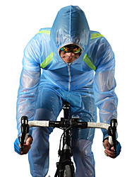 cheap -ROCKBROS Men's Women's Cycling Jacket with Pants Bike Windbreaker Raincoat Clothing Suit Windproof Breathable Quick Dry Sports Polyester White / Green / Blue Mountain Bike MTB Road Bike Cycling