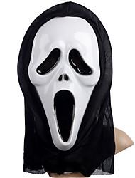 Недорогие -Маски Маска Хэллоуина Вдохновлен V — значит вендетта Клоун Фильм ужасов Золотой Белый Хэллоуин Хэллоуин Маскарад Взрослые Муж.