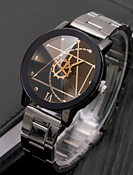 cheap -Men's Dress Watch Quartz Stainless Steel Black Casual Watch Cool Analog Casual Fashion - White Black One Year Battery Life