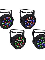 cheap -4pcs 18 W 1000-1200 lm 18 LED Beads Easy Install Tri-color LED Stage Light Spot Light RGB 110-240 V Ceiling Commercial Stage
