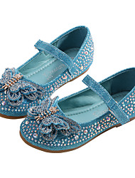 cheap -Girls' Comfort / Flower Girl Shoes PU Flats Toddler(9m-4ys) / Little Kids(4-7ys) Bowknot / Sequin / Sparkling Glitter Silver / Blue Spring / Fall / Party & Evening / Rubber