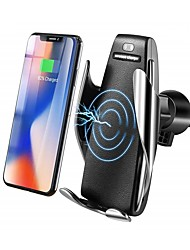 cheap -Bestsin Qi Wireless Car Charger Phone Holder 10W Fast Charge Gravity Linkage Air Vent Outlet Bracket
