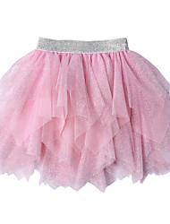 cheap -Petticoat Hoop Skirt Tutu Under Skirt 1950s Sequin Cotton Yellow Pink Petticoat / Kid's / Crinoline