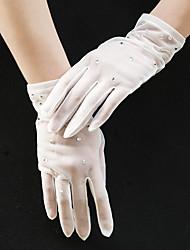 cheap -Tulle Wrist Length Glove Party / Evening / Modern Style With Acrylic Diamond / Trim