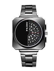 cheap -Men's Sport Watch Quartz Stainless Steel Black / Silver New Design Large Dial Analog - Digital Casual Outdoor - Black Silver Black / White