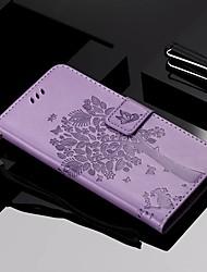 Недорогие -Кейс для Назначение SSamsung Galaxy Galaxy A7(2018) / Galaxy A9 (2018) / Galaxy A10 (2019) Кошелек / Бумажник для карт / со стендом Чехол Кот / дерево Твердый Кожа PU