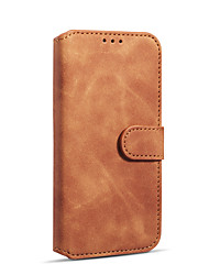 cheap -Case For Apple iPhone XR Wallet / Card Holder / Shockproof Full Body Cases Solid Colored Hard PU Leather / TPU